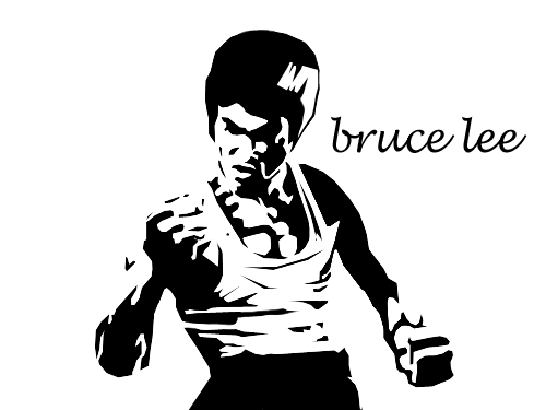 Bruce Lee Art Decal Singapore